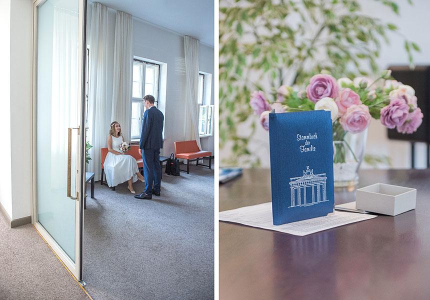 heiraten auf dem standesamt berlin, hochzeit im standesamt, familienstammbuch, wartezimmer im standesamt berlin mitte